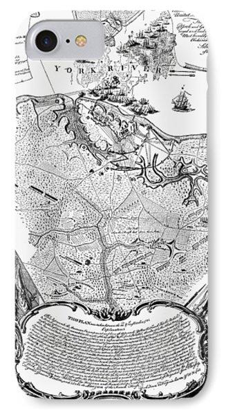 Yorktown: Map, 1781 IPhone Case