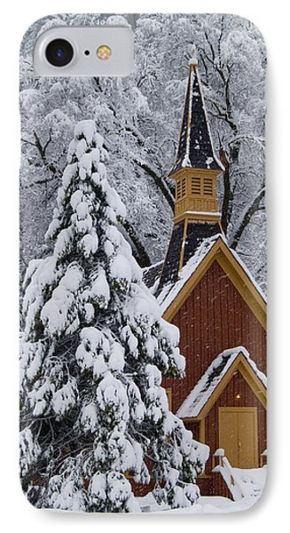 Yosemite Chapel IPhone Case by Bill Gallagher