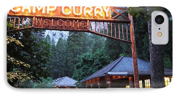 IPhone Case featuring the photograph Yosemite Curry Village by Shane Kelly