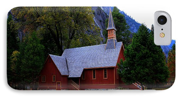 IPhone Case featuring the photograph Yosemite Fall  Chapel  by Duncan Selby