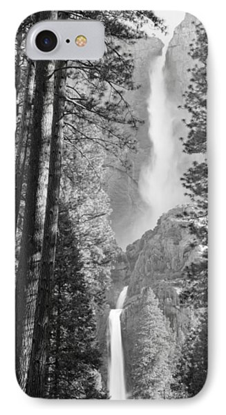 Yosemite Falls Black And White Phone Case by Bruce Gourley