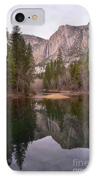 Yosemite Falls Reflection IPhone Case by Debby Pueschel