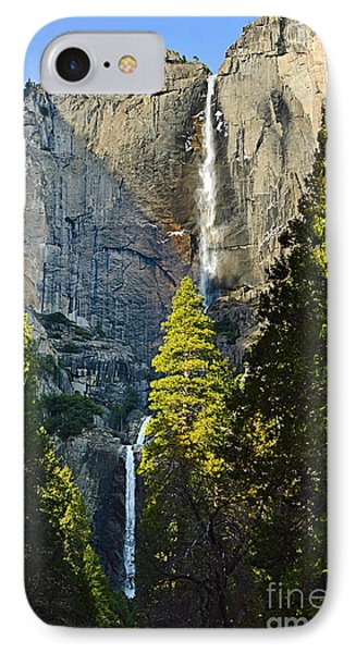 Yosemite Falls With Late Afternoon Light In Yosemite National Park. Phone Case by Jamie Pham