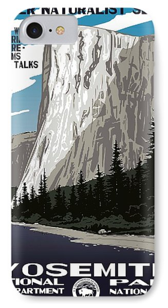 Yosemite National Park Vintage Poster 2 IPhone Case by Eric Glaser