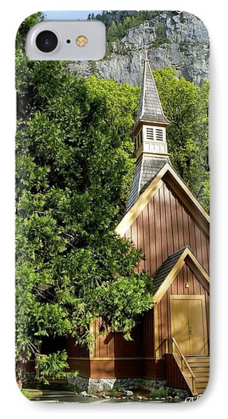 Yosemite Valley Chapel IPhone Case by Alex King