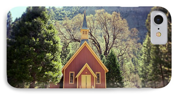 Yosemite Valley Chapel Lomo IPhone Case by Jane Rix