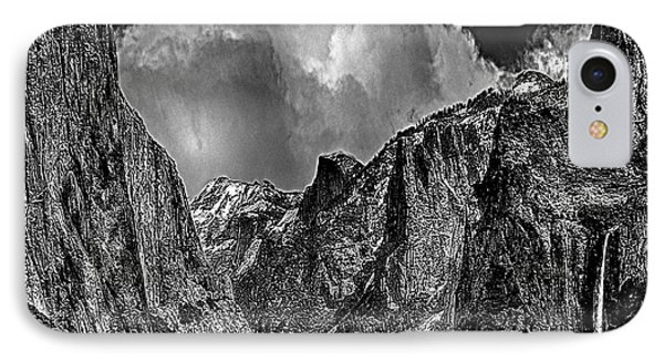 Yosemite Valley From Tunnel Phone Case by Bob and Nadine Johnston