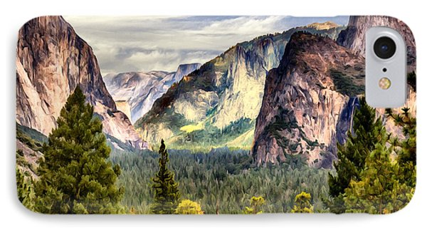 Yosemite Valley Painting Tunnel View IPhone Case