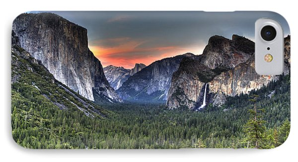 Yosemite Valley View Sunset IPhone Case by Shawn Everhart
