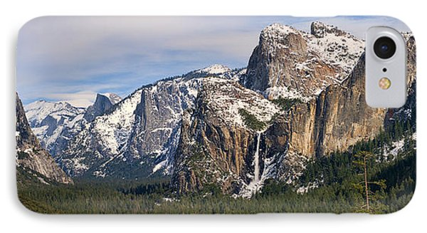 Yosemite Valley With Snow IPhone Case by Gregory Scott