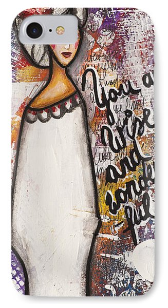 IPhone Case featuring the mixed media You Are Wise And Wonderful by Stanka Vukelic