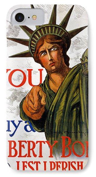 You Buy A Liberty Bond, 1917 IPhone Case by Charles Raymond Macauley