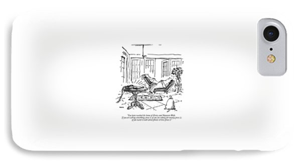 You Have Reached The Home Of Henry And Maureen IPhone Case by George Booth