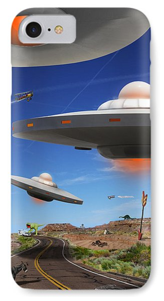 You Never Know What You Will See On Route 66 Phone Case by Mike McGlothlen
