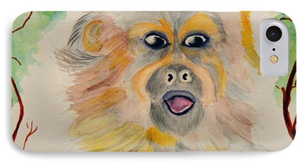 You Silly Monkey IPhone Case by Maria Urso