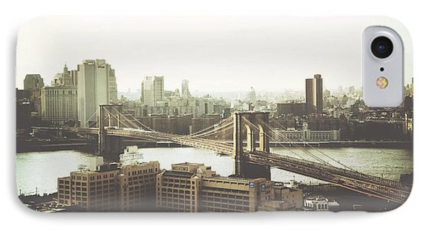 You'll Miss Her Most When You Roam ... Cause You'll Think Of Her And Think Of Home ... The Good Old Brooklyn Bridge IPhone Case by Natasha Marco