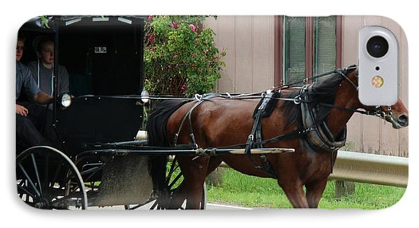 Young Amish Courtship Couple IPhone Case by R A W M