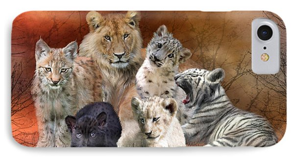 Young And Wild Phone Case by Carol Cavalaris