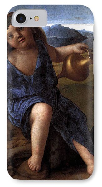 IPhone Case featuring the painting Young Bacchus Dionysus Giovanni Bellini 1514 by Karon Melillo DeVega