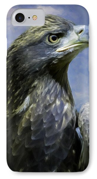 Young Bald Eagle V2 Phone Case by F Leblanc