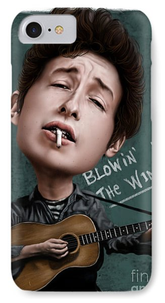Young Bob Dylan IPhone Case by Andre Koekemoer