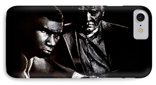 Young Boxer And Soon To Be World Champion Mike Tyson And Trainer Cus Damato IPhone Case by Jim Fitzpatrick