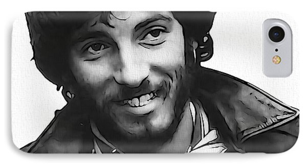 Young Bruce Springsteen IPhone Case by Dan Sproul