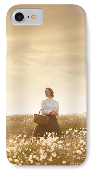 Young Edwardian Woman In A Meadow Phone Case by Lee Avison
