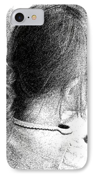 IPhone Case featuring the photograph Young Girl by Jennifer Muller