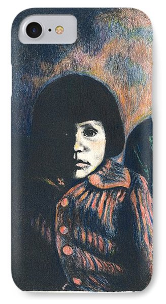 Young Girl Phone Case by Kendall Kessler
