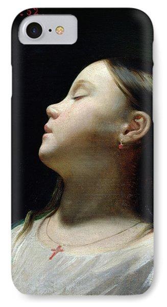 Young Girl Sleeping IPhone Case by Leon Joseph Florentin Bonnat