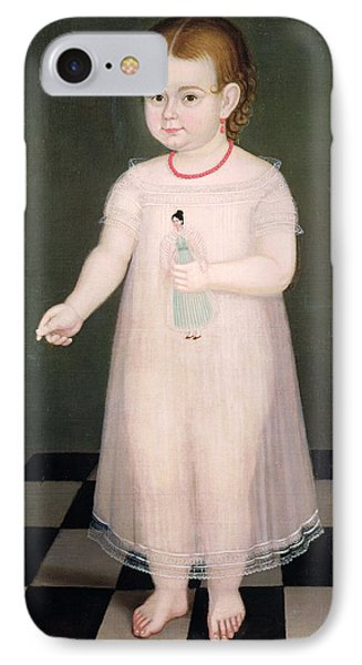 Young Girl With A Doll, 1838 Oil On Canvas IPhone Case