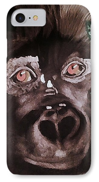 Young Gorilla IPhone Case by Renee Michelle Wenker