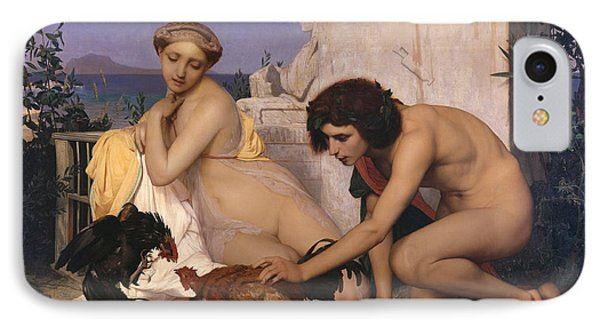 Young Greeks Attending A Cock Fight Phone Case by Jean Leon Gerome