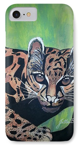 IPhone Case featuring the painting Young In Wild by Joetta Beauford