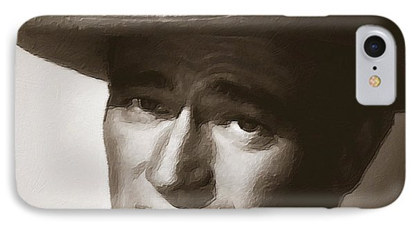 Young John Wayne Painting Traditional IPhone Case by Tony Rubino