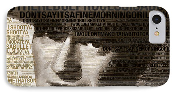 Young John Wayne Painting With Quotes IPhone Case by Tony Rubino
