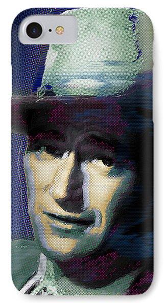 Young John Wayne Pop 1 IPhone Case by Tony Rubino