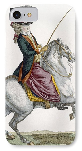 Young Lady Riding A Horse, Engraved IPhone Case by Pierre Thomas Le Clerc