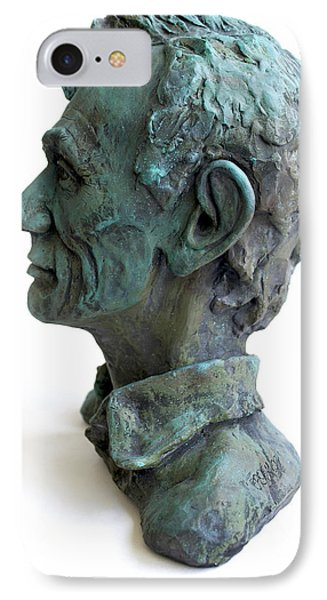 Young Lincoln -sculpture Phone Case by Derrick Higgins
