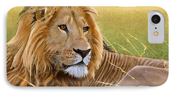 Young Lion Phone Case by Aaron Blaise