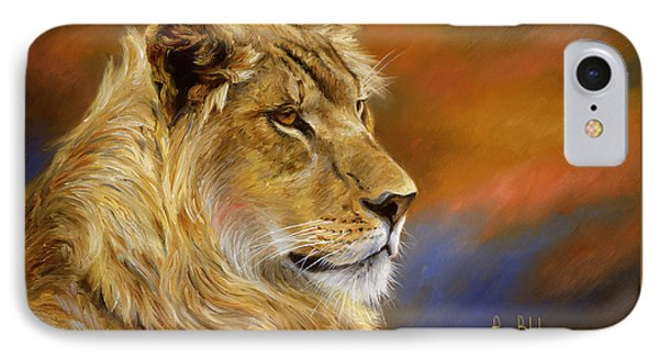 Young Lion IPhone 7 Case by Lucie Bilodeau