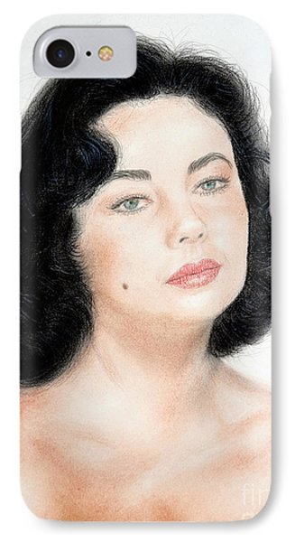 Young Liz Taylor Portrait Remake IPhone Case