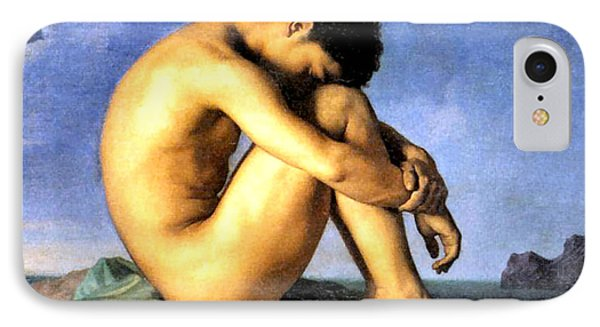 Young Man By The Sea IPhone Case by Hippolyte Flandrin