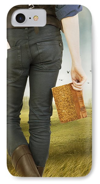 IPhone Case featuring the photograph Young Man Holding Book by Ethiriel  Photography