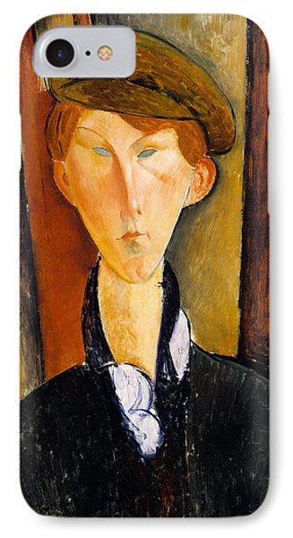Young Man With Cap Phone Case by Amedeo Modigliani