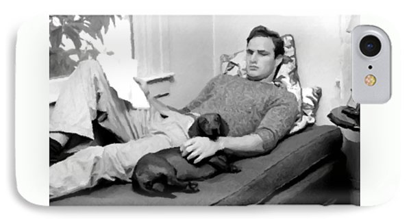 Young Marlon Brando IPhone Case by Doc Braham