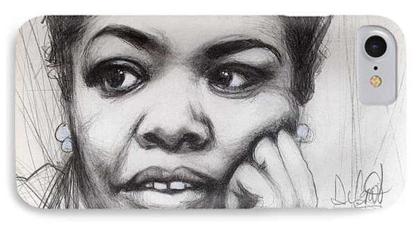 Young Maya Angelou IPhone Case by Gregory DeGroat