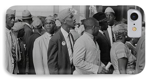 Young Men In Naacp Caps In Front IPhone Case by Stocktrek Images