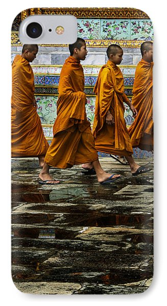 IPhone Case featuring the photograph Young Monks by Rob Tullis